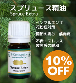 今月の香り スプリュース精油★10%オフ